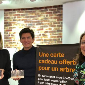 Orange  va reboiser une forêt  avec la Start-up EcoTree