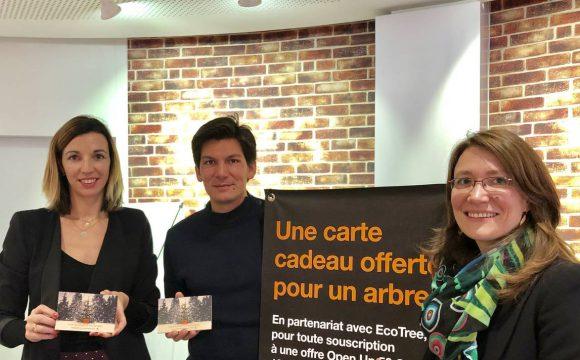 Orange  va reboiser une forêt  avec la Start-up EcoTree